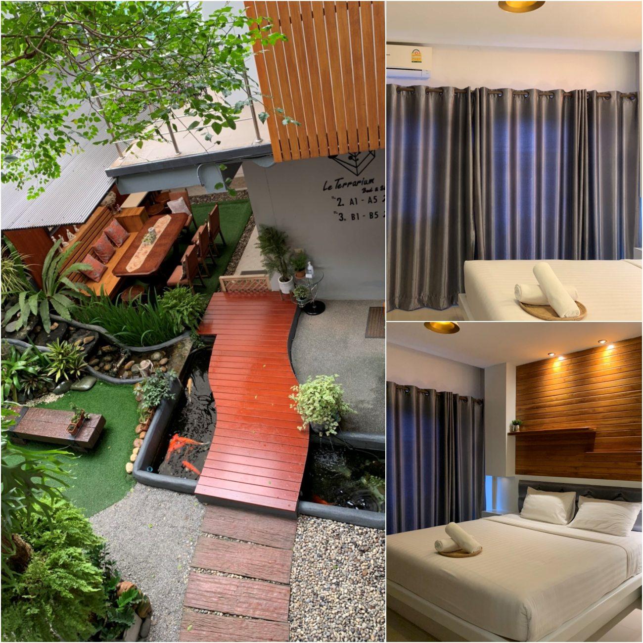 Le terrarium hotel โรงแรมอยู่ในตัวเมือง เดินทางสะดวกที่พักสะอาด มีไวไฟและที่สำคัญราคาไม่แพงอีกด้วยย